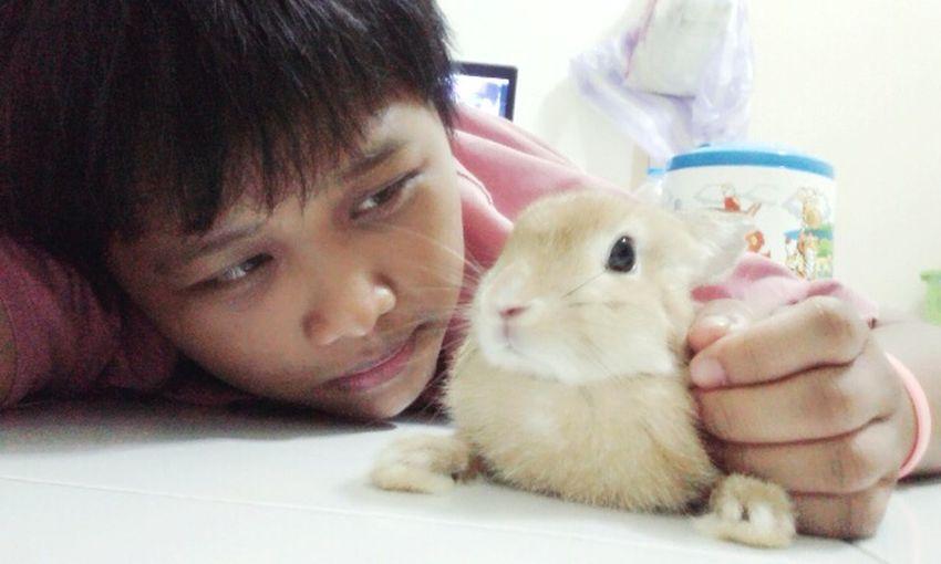 Me And My Bunny My Love Rabbit Happy Time Happy Life