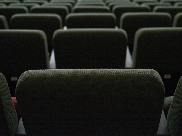 Full Frame Shot Of Empty Seats In Theater