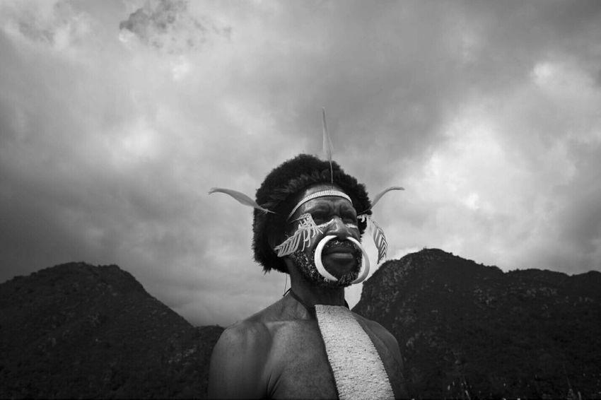 Tribesman Papua Photodocumentary Documentary Humaninterest Untold Stories INDONESIA Blackandwhite Monochrome Etnies