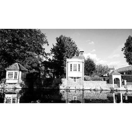 Canal side cabins along the River Lee, in Ware.. Bw Blackandwhite Riverlee Ware Canal WaterWatersidecabins Cabins WaterHuts Trees Hertfordshire Picturesque Picoftheday Snapshot Capture ican Sonyxperia XperiaZ3