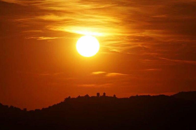 Sun Sunset Orange Color Beauty In Nature Sunlight Landscape No People Day Loreto Marche Regionemarche Sky Nature