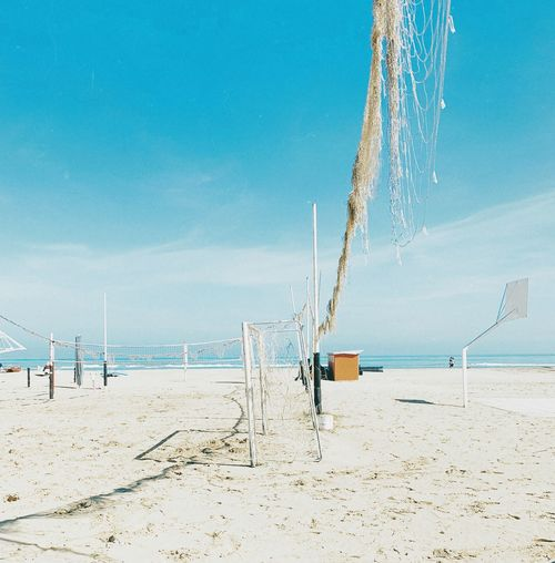 lines'n'beach Beach Water Land Sea Sky Sand Horizon Over Water Blue Incidental People Tranquility Summer Tranquil Scene Scenics - Nature Day Horizon Beauty In Nature
