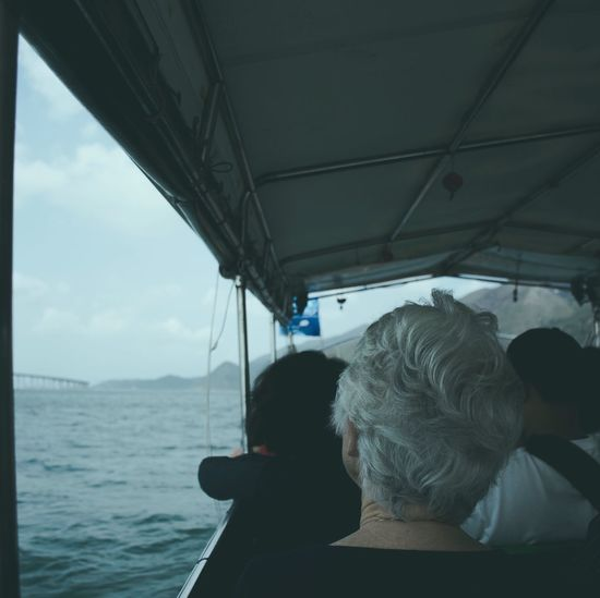 Transportation Vehicle Interior Mode Of Transport Rear View One Person Real People Day Sitting Sea Nautical Vessel Women Water Sky Vehicle Seat Men Nature Outdoors Adult People