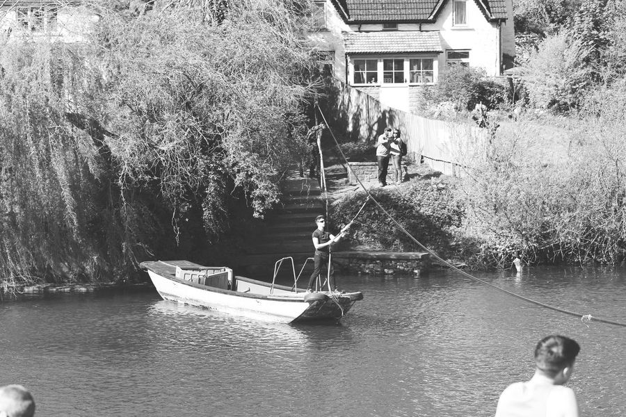 Architecture Building Exterior Built Structure Water Real People Nautical Vessel Day Outdoors Men People Tree Women Adult Nature City One Person Adults Only River Ferry Shadows & Lights EyeEm Nature Lover Beauty In Nature EyeEm Best Shots - Nature Symonds Yat EyeEm Best Shots