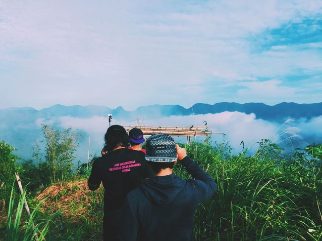 village above the clouds- Kampung Sting Sky Mountain Beauty In Nature Cloud - Sky Outdoors Sarawak Malaysia