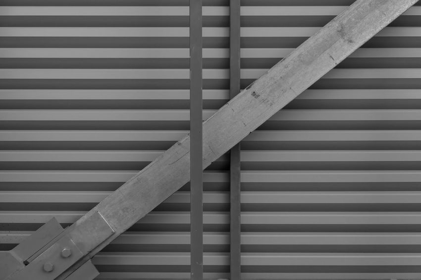 Pattern No People Striped Metal Indoors  Wall - Building Feature Close-up Full Frame Day Architecture Still Life Backgrounds Built Structure Shape