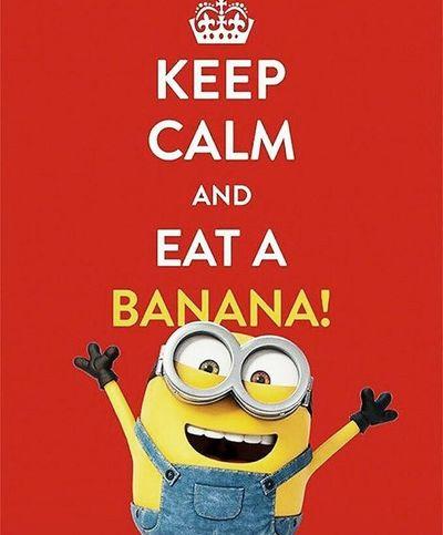 Banana Fun Funny Funny Moments Happy Happy :) Love It ❤ Lovely Minion  Minion Love Minions ♥♥ Text