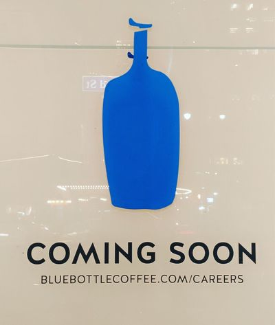 Blue Bottle Coffee Coming Soon Commingsoon Sign