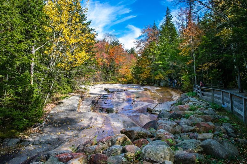 Tree Nature Autumn Tranquil Scene Scenics Forest Beauty In Nature Tranquility Cloud - Sky Sky River Rock - Object Outdoors Non-urban Scene Idyllic Day No People Bridge - Man Made Structure Stream - Flowing Water Landscape rocks Autumn🍁🍁🍁 Newhampshire WoodLand