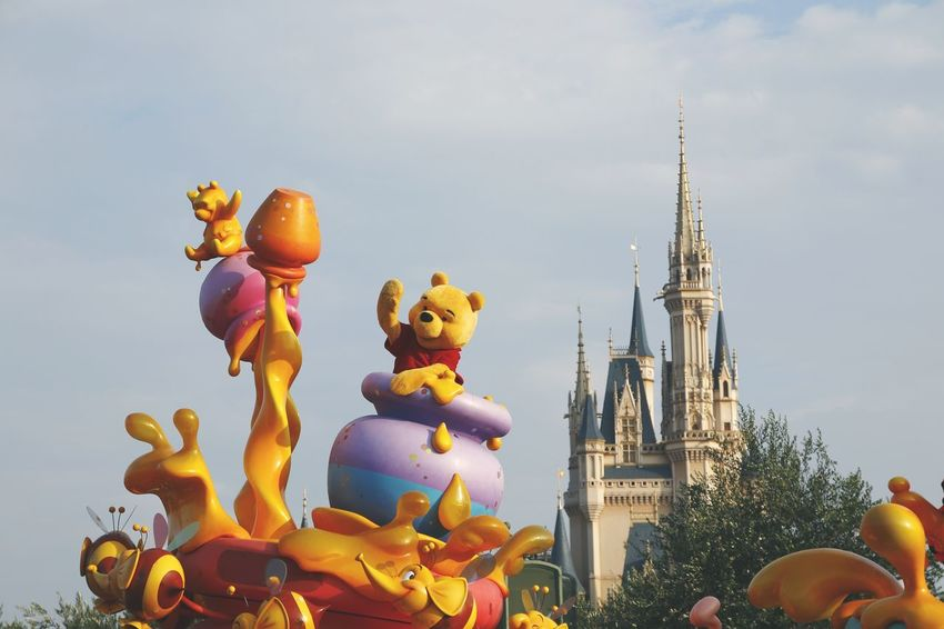 Disneyland Disneyland Tokyo Disneyland<3 Disney Disneyland Castle 東京 東京ディズニーランド Disneyland Tokyo Resort Tokyo Disney Land Disneytokyo Tokyo Disneyland 東京ディズニーランドホテル 東京ディズニーランド (tokyo Disneyland) Amusement Park Amusementpark Disney Castle Japan Disney Parade Winnie The Pooh  Winniethepooh Sky No People Day Outdoors Architecture Close-up Astronomy