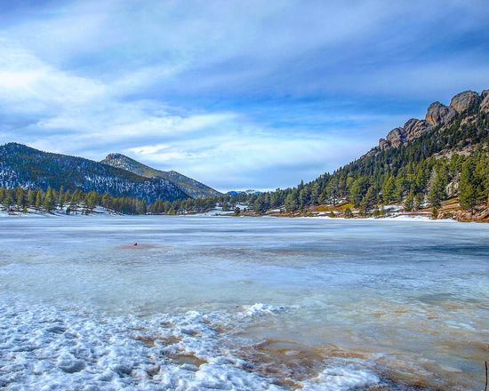 Lilly Lake, Estes Park, CO Snow Cold Temperature Winter Nature Frozen Ice Tranquility Frozen Lake Mountain Tranquil Scene Beauty In Nature Mountain Range Landscape Colorado Outdoors Eyem Best Shots Nature_collection Naturephotography EyeEm Gallery Lake Amazing Landscape Coloradophotographer