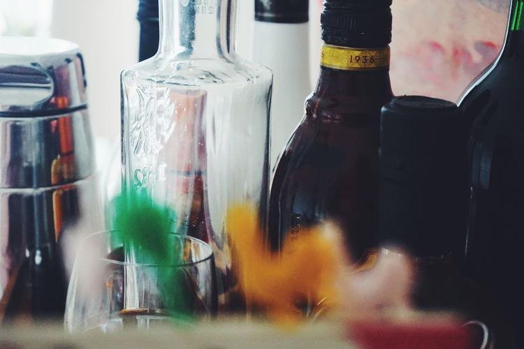 Alcohol bottles Alcohol Alcohol Bottles Alcoholic Drink Backgrounds Bar Bottle Bottles Bottles Collection Close-up Cocktail Sticks Cocktails Cocktail Day Indoors  No People Shaker
