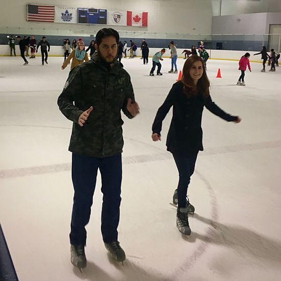 Ice Rink Winter Sport Leisure Activity Ice-skating Ice Skate Group Activities Having Fun Cold Winter Ice ThatsMe Holiday Celebration Me And The Wife