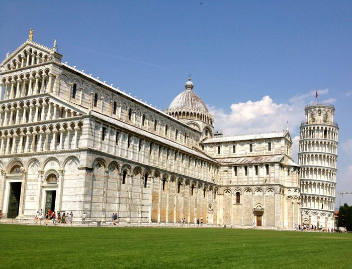 Pisa Cathedral, Italy. With leaning tower of Pisa. Cathedral Cathedral Of Pisa Piazza Del Duomo Pisa Pisa Italy Architecture Bell Tower Building Exterior Built Structure Campanile City Day Dome Grass History Italy Large Group Of People Leaning Tower Of Pisa Outdoors People Piazza Del Duomo Pisa Religious Architecture Sky Travel Destinations