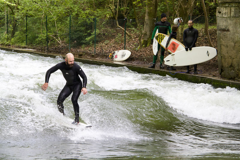 Surfing the river Activity Adventure Athlete Competition Endurance Exercising Extreme Sports Healthy Lifestyle Leisure Activity Lifestyles Mature Men Men Motion Outdoors People Person Portrait River Splashing Sport Sportsman Surf Surfboard Travel Photography Wather