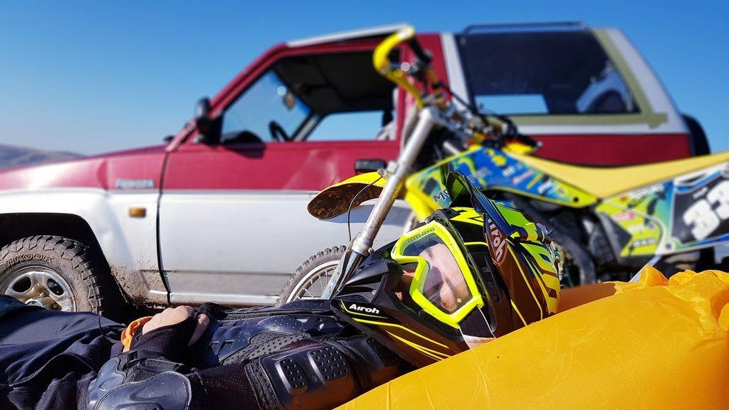 Motorcycle life EyeEm EyeEm Best Shots Airoh Motorcycle Offroad Cross Skyline Power Portrait Vehicle Breakdown Sky Motocross