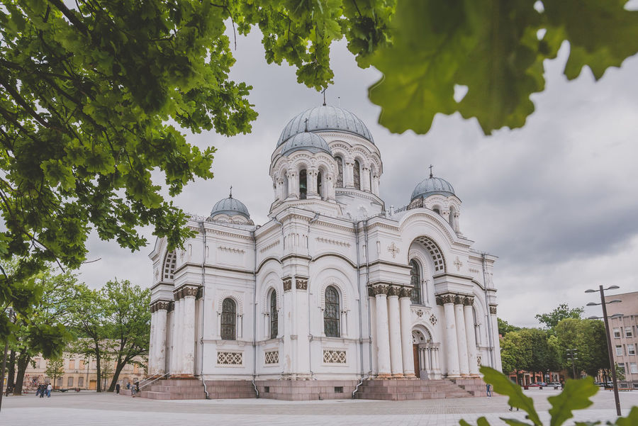 Church Architecture Building Exterior Built Structure Clouds Day Dome Façade Framed History No People Outdoors Place Of Worship Religion Sky Soboras Spirituality Summer Travel Destinations Tree