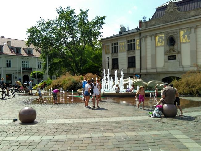Travael People Day Water Kids Plain Krakow Poland Nofilter Fontains Relaxing Time Plaing Time