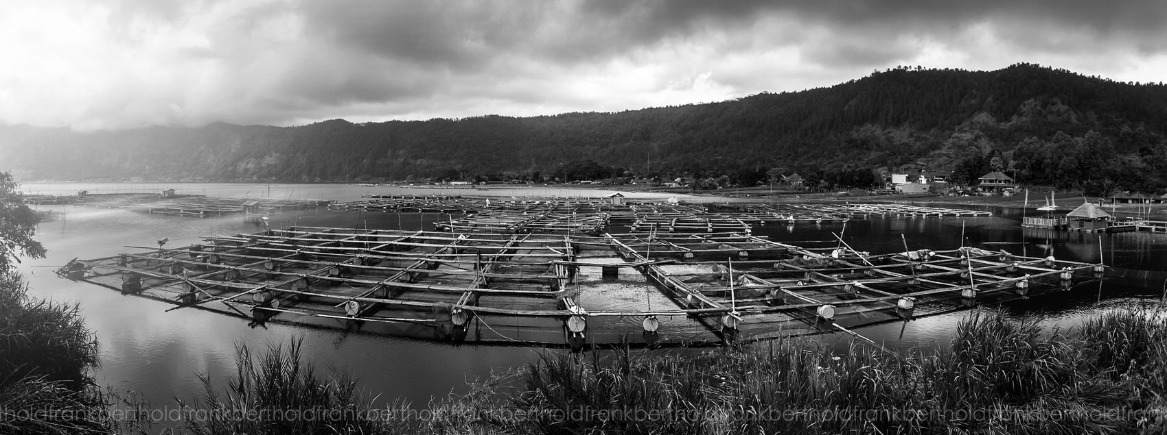 Lake Batur Frandi Black & White Landscape Blackandwhite Panorama