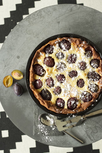 Homemade French plum clafoutis Cooking Food Styling Taking Photos Baking Clafoutis Close-up Day Food Food And Drink French Freshness High Angle View Homemade Indoors  Indulgence No People Plum Ready-to-eat Sweet Pie Tart - Dessert