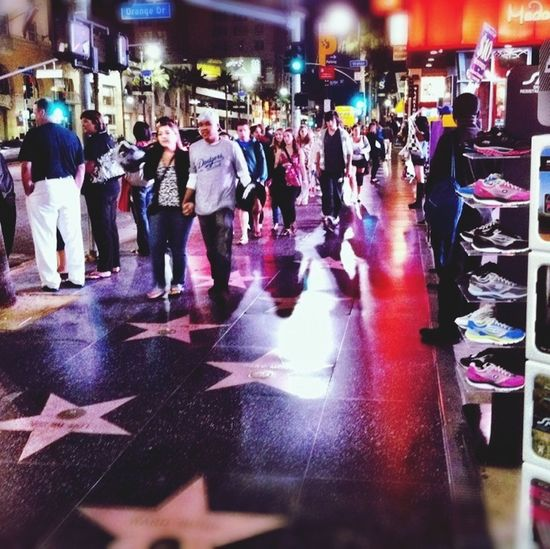 HOLLYWOOD BLVD, street view@California That's Me Hamid Yasamin. Hanging Out USA. WORLD OF CINEMA, Actors