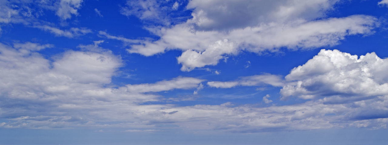 Backgrounds Beauty In Nature Blue Cloud Cloud - Sky Clouds Cloudscape Cloudy Day Fluffy Clouds Idyllic Low Angle View Nature No People Outdoors Scenics Sky Sky Only Summer Tranquil Scene Tranquility Weather White Color