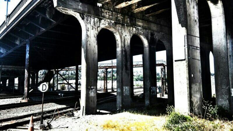 Oldtown Under The Bridge Bridge View Railroad Bridges Queenanne Outdoors Photograpghy  Light And Shadow Seattle