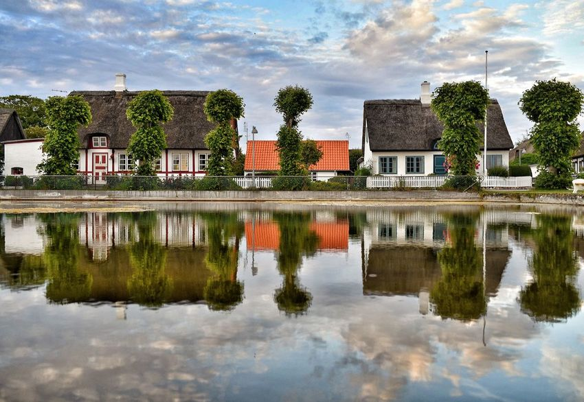 The village pond Samsø Nordby Denmark Danmark Reflection Reflection_collection Reflected Glory Reflcetions Village Pond Architecture House Cloud - Sky Water Puddle Built Structure Day Sky Outdoors Reflections And Shadows Reflections In The Water Reflection Photography Scenics Romantic Old