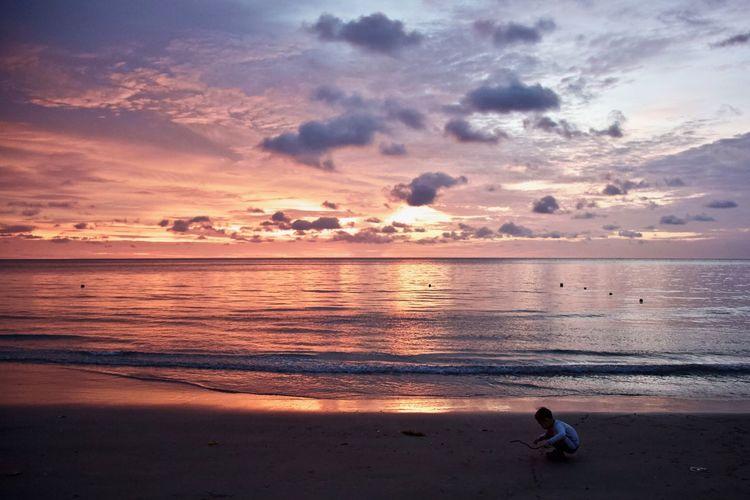 Sunset Boy Beach
