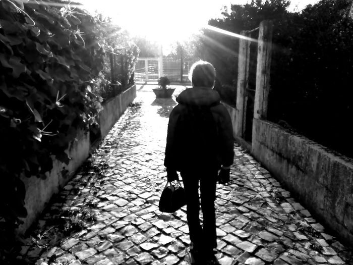 Black & White Black And White Black And White Collection  Black And White Photography Black&white Blackandwhite Blackandwhite Photography Blackandwhitephotography Day Men Monochrome Monochrome Photography One Person Outdoors People Real People Rear View Sunlight The Way Forward Walk Into The Light Walking Into The Light