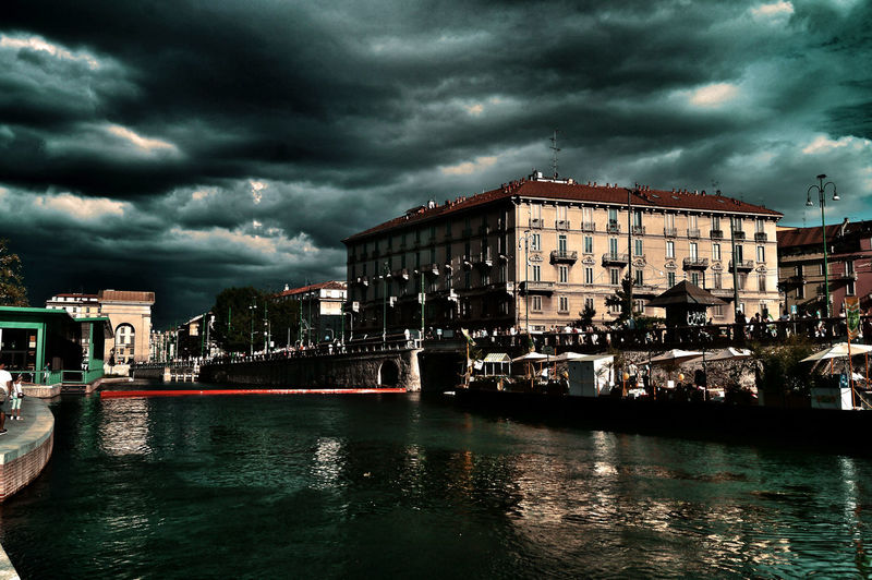 Architecture Architecture Building Exterior Built Structure Cloud - Sky Darsena Milano Drammatic Drammatic Sky Harbor Milano Milano Harbor No People Old Architecture Outdoors Sky Storm Cloud