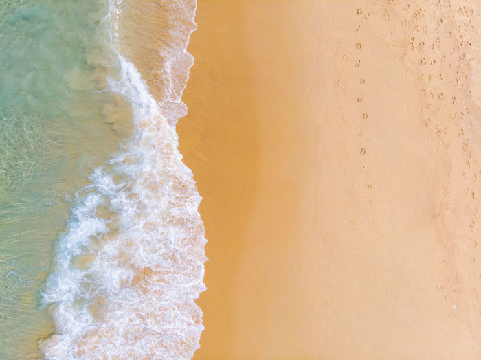 Directly above shot of beach