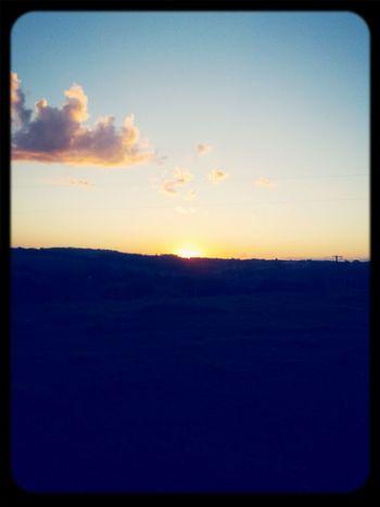 Vista do por do sol da minha casa! First Eyeem Photo