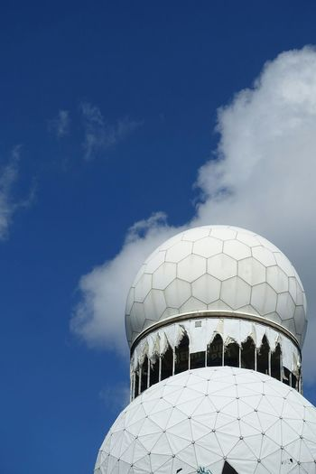 Teufelsberg Abhörstation Teufelsberg Berlin Sky Clouds And Sky Clouds Dome Sunshine Blue White The Architect - 2016 EyeEm Awards Myfavoriteplace Adapted To The City The Secret Spaces The Graphic City
