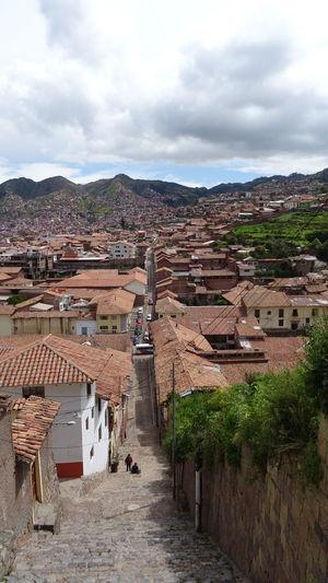 Architecture Building Exterior Built Structure City Cloud - Sky Cusco Cuzco Day Landscape Mountain Nature No People Outdoors Peru Sky Street