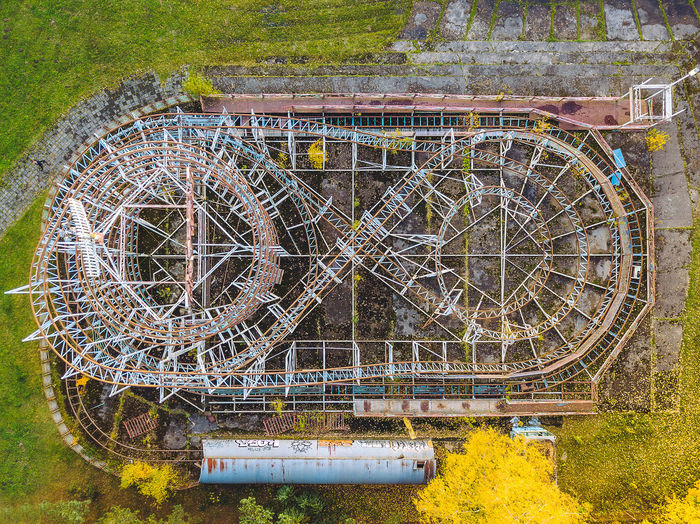 Directly above shot of amusement park