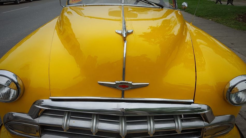 EyeEm Selects Yellow Car No People Arts Culture And Entertainment Close-up Day Indoors  Cuba Habana Car Collection Cuba Chevrolet
