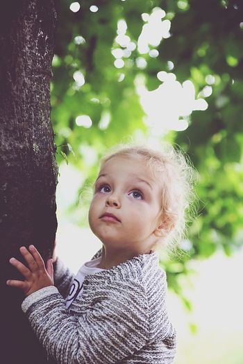 Childhood Tree Portrait Real People Daughter Outdoors Innocence EyeEmNewHere