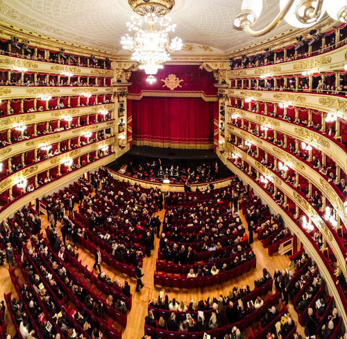 Tutto pronto Milano Milano Italy La Scala Di Milano Beautifulview Beautifulplace Indoors  Lighting Equipment Luxury Chair Large Group Of Objects Illuminated No People Auditorium Architecture