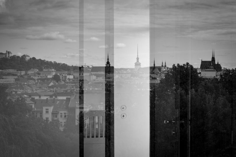 Through The Window Reflection Reflection_collection Window View Window Reflection Cityscape City View  Architecture Built Structure Blackandwhite Photography Blackandwhite Monochrome Photography Monochrome Point Of View From My Point Of View Light And Shadow The Week On EyeEm Brno Czech Republic