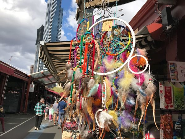 Dreamcatcher Dream Catcher Colorful Colourful Dream Catcher Melbourne City Melbourne Queenvictoria Queen Victoria  Queenvictoriamarket Feather Dream Catcher Takenwithiphone7plus Taken With IPhone7plus