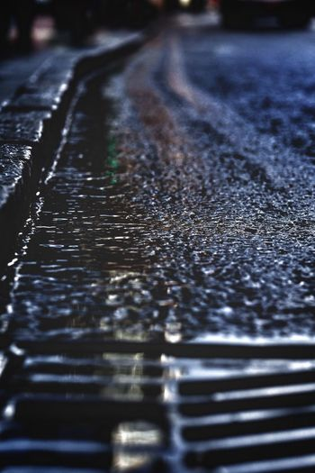 Close-up of wet surface