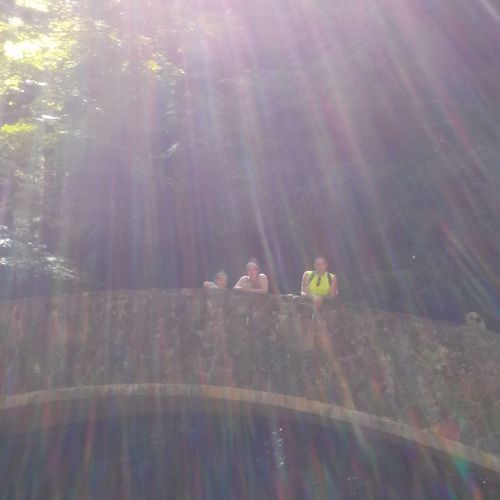 Sun Rays On A Hike Nature Beautiful Family