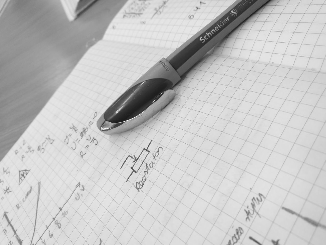 paper, indoors, education, table, close-up, no people, algebra, formula, science, day