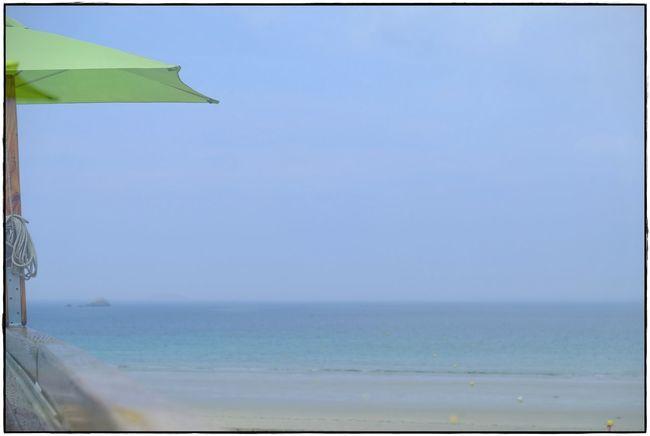 last summer Water Sky Sea Horizon Over Water Beach Nature Umbrella Outdoors Green