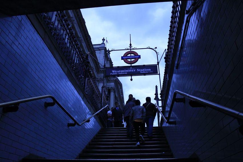 Subway Station London Stairs Taking Photos Captured Moment Eye4photography  Blue Underground EyeEmBestPics Hello World