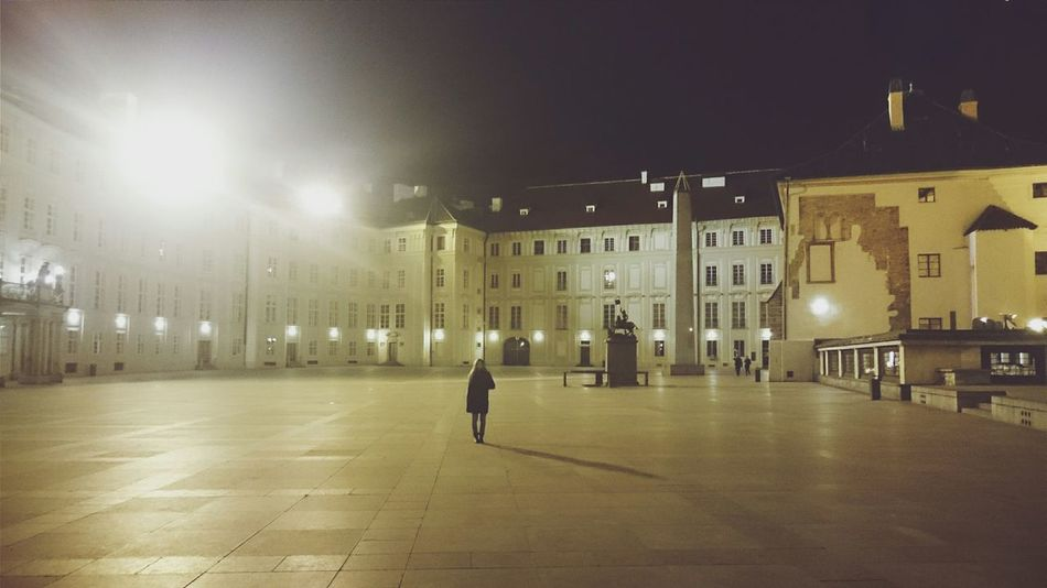 Alone Street Photography Nightphotography Night Lights Visiting Prague Travelphotography