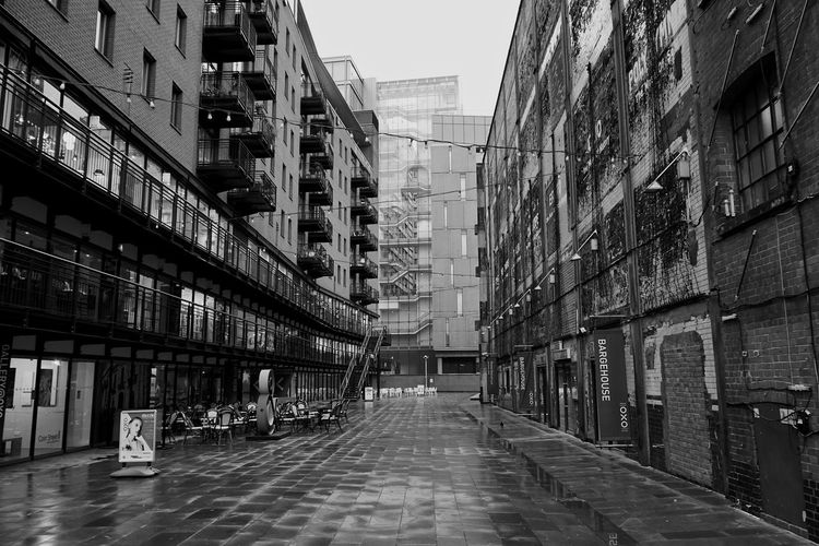 Architecture Black And White Blackandwhite Building Exterior Built Structure City City Life Day Fire Escape No People Outdoors Skyscraper Sony SONY A7ii Tranquil Scene Tranquility EyeEm LOST IN London