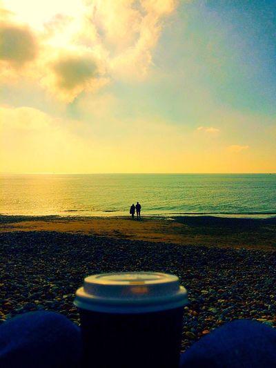 Coffee beach love Romantic Romantic Sky Beach Beach Lovers Lovers Coffee Coffee On The Beach Fantasy Beautiful Perfect Moment