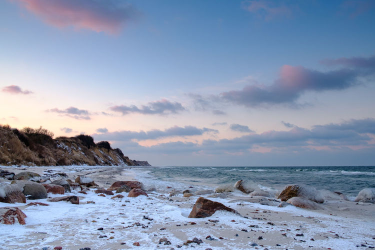 EyeEm Nature Lover EyeEmNewHere Ice Strand Beach Clouds Cold Cold Temperature Snow Sunset Water Windy